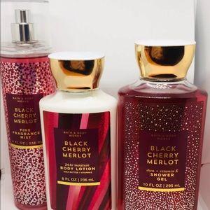 Bath & Body Black Cherry Merlot Lotion Gel Mist